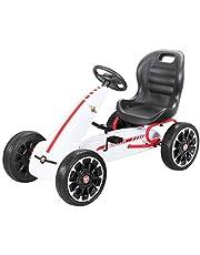 PEQUENENES Kart Coche de Pedales Fiat Abarth de CARS12V, Ruedas neumaticas, carenado de Proteccion, Freno de Mano, Asiento Regulable