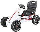 Actionbikes Motors Miweba Gokart Abarth - Pedali per bambini, con licenza ufficiale, colore: Bianco