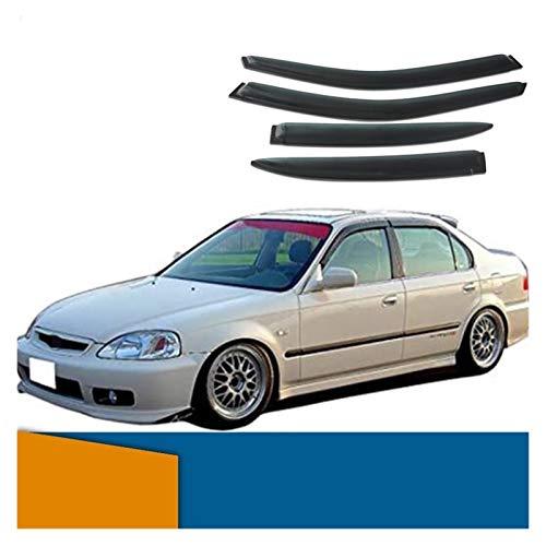 JHDS Windabweiser Seitenfenster Deflektor Für Honda Civic 1996 1997 1998 1999 1999 2000 Limousinenfenster Visier Venor-Entlüftungsschirme Sun Rain Deflector Guard Windabweisern