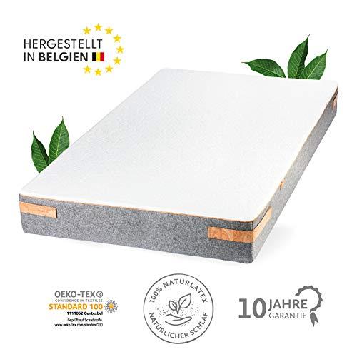 JONA SLEEP Naturlatex Matratze (140x200 cm) H2 - Mittelfest, Natur-Matratze mit 7 Zonen für Allergiker-Geeignet - Öko Tex 100 - LGA gestesteter Kern (140x200 cm)