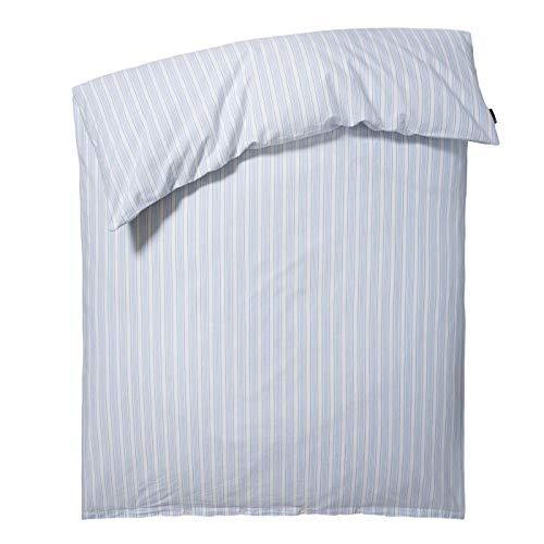 Lexington - Bettwäsche - Blue Striped Cotton Linen Duvet - Farbe: Weiß, Blau gestreift - 155 x 220 cm - Lieferumfang: 1 Bettbezug - Baumwoll-Leinen Mischung