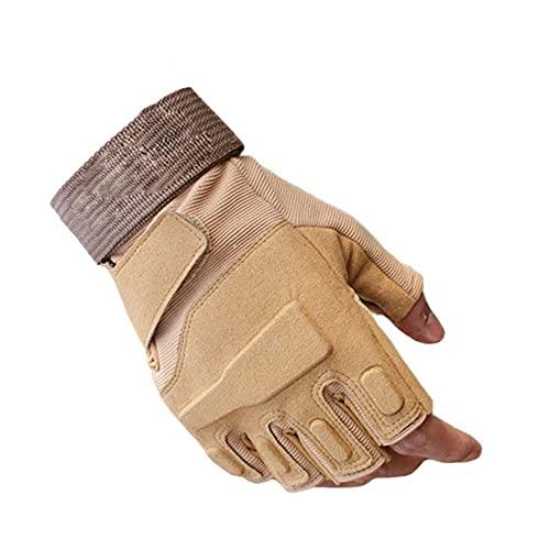 Guanti Outdoor Sports Full Finger Moto Guanti antiscivolo in fibra di carbonio Shell-half yellow-2-L
