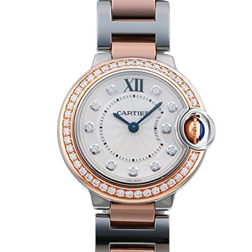 カルティエ Cartier バロンブルー WE902076 シルバー文字盤 中古 腕時計 レディース (W209592) [並行輸入品]