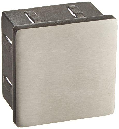 CROSO Endkappe eckig für 50x50 mm Vierkantrohr   Edelstahl V2A geschliffen   hohl   1 Stück