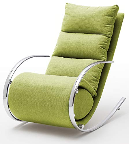 Robas Lund  Relaxsessel/Schaukelstuhl, York, Webstoff, ca. 67 x 111 x 102, grün