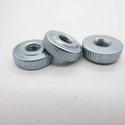 ZSZJ Tuerca Manija 10pcs DIN467 M3 M4 M5 GB807 M6 de Acero al Carbono Tuercas estriadas Tuerca de palomilla Tornillo (Size : M4(10PCS))
