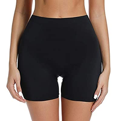 Thigh Slimmer Shapewear Panties for Women Slip Shorts High Waist Tummy Control Cincher Girdle Body Shaper (Non-Control Black, L)