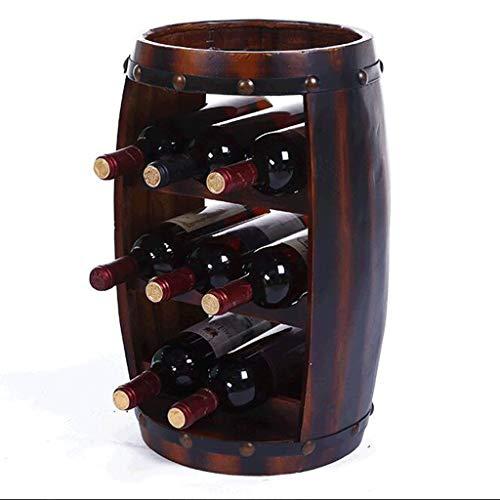 Casier À Vin En Bois Porte-bouteilles En Bois Porte-table Top 8 Bouteilles Créatif Casier À Vin En Bois Massif Décoration Baril Bar En Bois Exposition Cave Cabinet En Pin (Couleur : A)