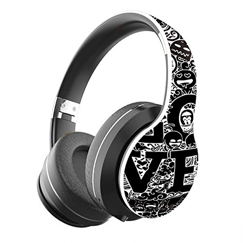 SWETIY Pintada Auriculares Bluetooth Inalambricos De Diadema Cascos Plegables, Casco Bluetooth con...
