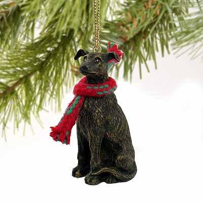 Greyhound Miniature Dog Ornament - Brindle