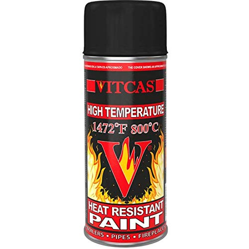 VITCAS Heat Resistant-High Temperature Paint Spray- Black