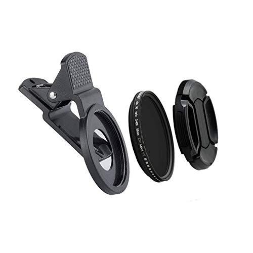 Lens voor mobiele telefoons voor mobiele telefoons, SLR-lens, 37 mm cameralens, verstelbaar, voor mobiele telefoon met grijze spiegel.