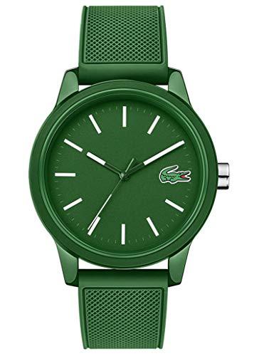 Lacoste Herren Analog Uhr Leisure mit Silikon Armband