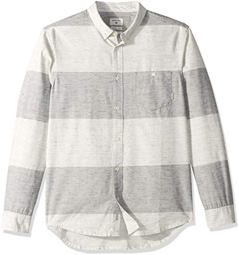 Quiksilver Men's MINOO Valley Stripes Woven, Iron gate Marble Neppy, S