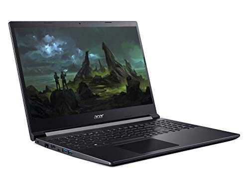 Acer Aspire 7 A715-42G 15.6 inch Gaming Laptop (AMD Ryzen 5 5500U, 8GB RAM, 512GB SSD, NVIDIA GTX 1650Ti, Full HD Display, Windows 10, Black)