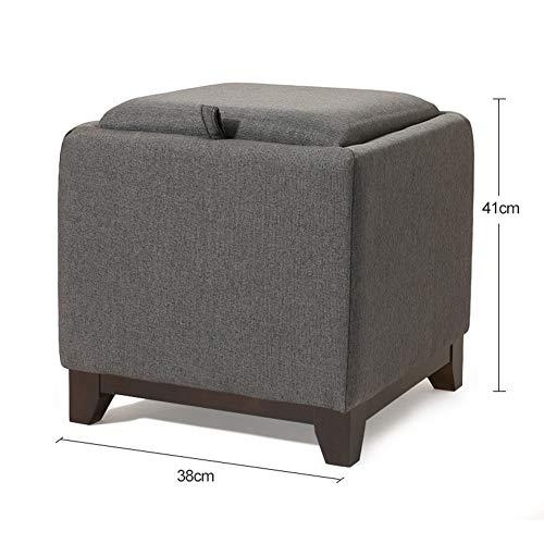 YAYADU Pouf Tabouret Mode Art De Tissu Créatif Ménage Loisir Chevet Changer De Chaussures Sofa Tabouret De Table, 3 Couleurs (Color : Gray-B, Size : 41x38x41cm)