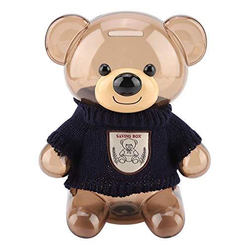Kinderen munt spaarvarken spaarpot Cartoon kleding beer spaarvarken plastic transparant spaarpot decoratie