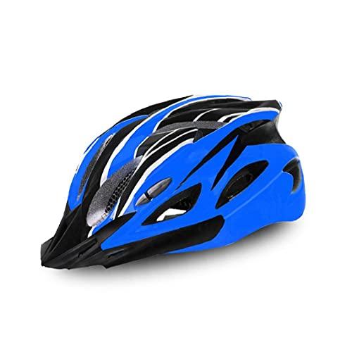 Liadance 1pc del Casco de Ciclista Ciclismo Casco Ajustable Adulto Casco de Ciclista para Deportes al Aire Libre (Azul y Negro)