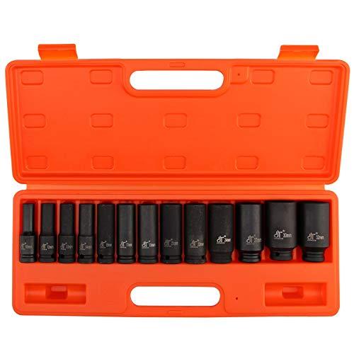 13 cubos de impacto, de AllRight, unidad de 13 mm, herramientas métricas para garaje o taller, de 10 a 32mm