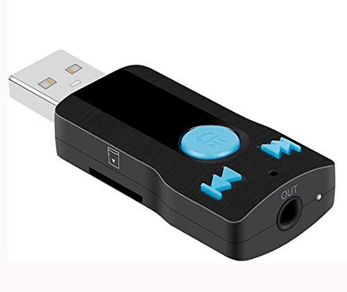 Récepteur USB Bluetooth Adaptateur audio sans fil Pour autoradio ou autoradio Prend en charge la carte SD Mains libres Pour téléphone, ordinateur portable, lecteur MP3, voiture