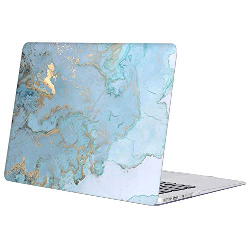SZAIENXIL for MacBook Pro 13 inch Case Plastic Hard Shell Cover Compatible with Older Version MacBook Pro Retina 13.3 Inch (A1502/A1425 Release 2015-end 2012), Blue Gold Marble
