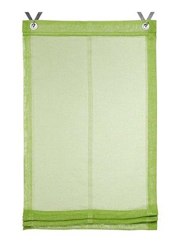 Gardinenbox.eu Raffrollo, Farbe grün, 1 Stück, Heine Home, Größe: ca. HxB: 140x120 cm, Einfache Montage mit Hakenaufhängung und Ösen, Lieferung Inklusive Zubehör
