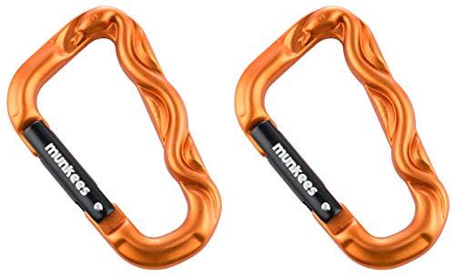 Munkees Carabina de 2 x 3D Serpiente, Serpiente, Multi propósito carabina carabinero Ornamentales llaveros, Naranja, Doble Pack, 328693