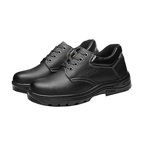 LLKK Zapatos de seguridad, zapatos deportivos, zapatos protectores, zapatos de hombre, antigolpes y antiperforación, puntera de acero resistente al desgaste, cómodos y ligeros zapatos de protección