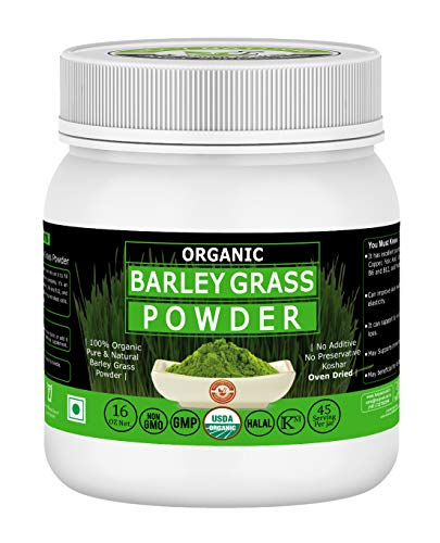 Organic Barley Grass Powder -16 Oz/1 lbs,USDA Certified I 100% Pure&Natural I Nutritionally Complete I Mix into Smoothie or Juice I RAW, Greenish Like Leaves, NO Preservative,Non GMO