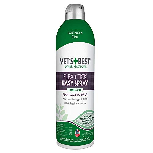 Vet's Best Flea and Tick Easy Spray | Flea Treatment for Cats and Home | Flea Killer with Certified Natural Oils, 14 oz