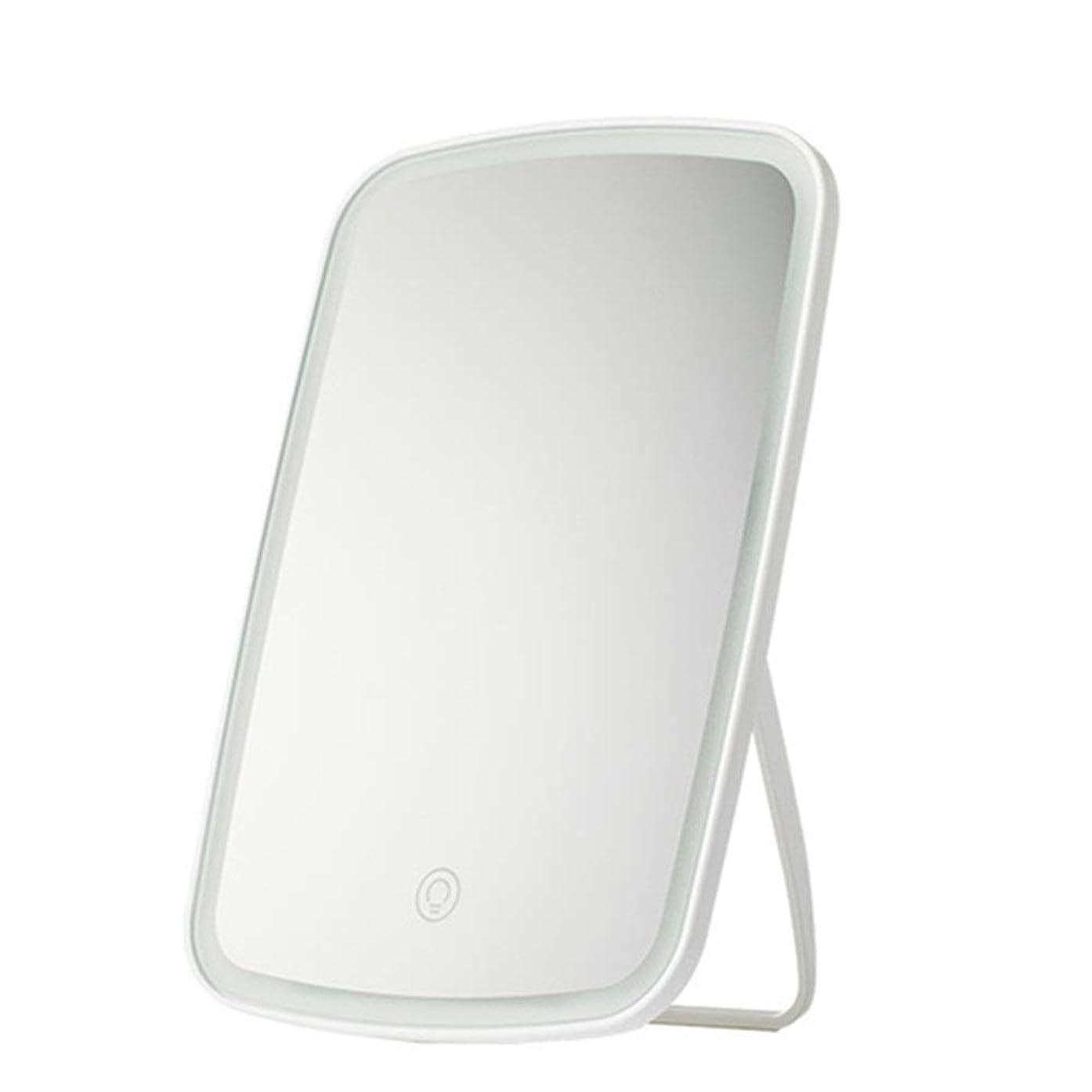 アレンジ生きている発生器化粧鏡 自立ドレッシングテーブルミラー、完璧なメイクアップまたはシェービングのために角度が調節可能 - 大きな長方形の反射領域 - ホワイト (色 : 白, サイズ : 16.8x2.5x27cm)