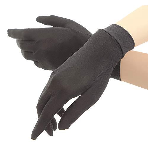 シルク手袋 レディース 手袋 シルク 絹 ハンド ケア 保湿 紫外線 肌荒れ 乾燥 サイズアップで手指にマッチ ...