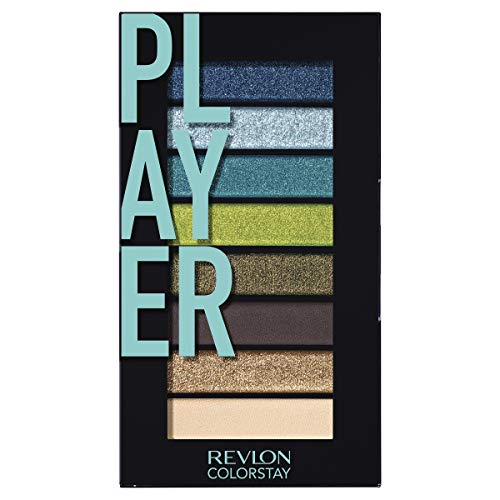 Revlon Colorstay Looks Book Eyeshadow Palette, Vibrant Eye Colors in Mix of Shimmer, Matte and Metallic Finish, Player (920)