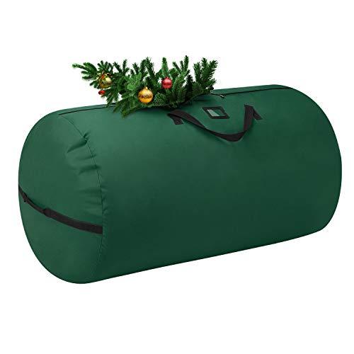 Nuovoware Borsa Portaoggetto per Albero di Natale, Custodia per Albero Artificiale Scatola Impermeabile per Alberi Smontati con Maniglie Rinforzate a Cerniera Resistente - Rosso
