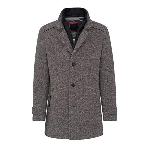 Hollert wollen mantel LENARDO Trenchcoat wintermantel herfstmantel business longjas grijs