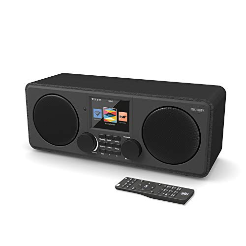 Majority Pembroke II Digitales DAB/DAB + / UKW- und Internetradio - Bluetooth - Spotify - USB- und AUX-Eingang (Schwarz)