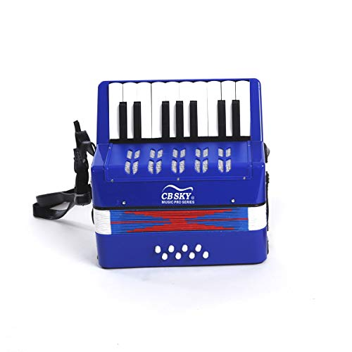Fantastic Prices! Kitouch Kids Accordion-17 Key Mini Accordion Musical Toy for Kids ( Color : Blue )