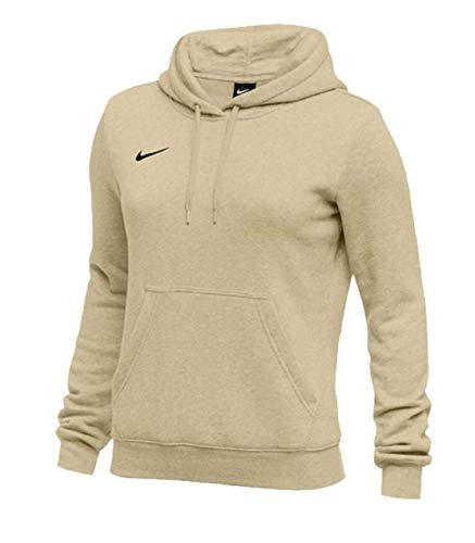 Nike Womens Pullover Club Fleece Hoodie (Small, Vegas Gold)