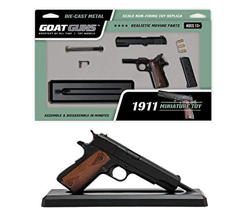 GoatGuns Miniature 1911 Model Black | 1:2.5 Scale Die Cast Metal Build Kit