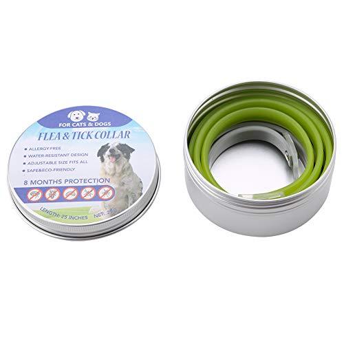 cloudbox Collar antimosquitos para Mascotas-2 uds/Caja, Collar Impermeable Ajustable para Mascotas, Gatos, Perros, garrapatas, pulgas, Collar Repelente contra Mosquitos