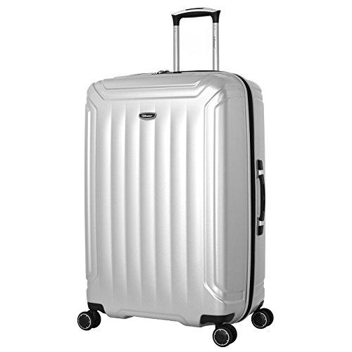 Eminent Suitcase Cove 75 cm 110 L Extra Secure Zipper 4 Double Wheels TSA Lock Silver