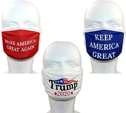 Trump Face Mask 3-PACK | Safety Reusable & Washable Anti Dust Mouth Fashion Balaclava Cover | Breathable Bandanna with Carbon...