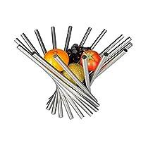 XXDTG フルーツ-ステンレスロータリーフルーツプレートシルバーフルーツバスケットギフトバスケット現代のミニマルな装飾