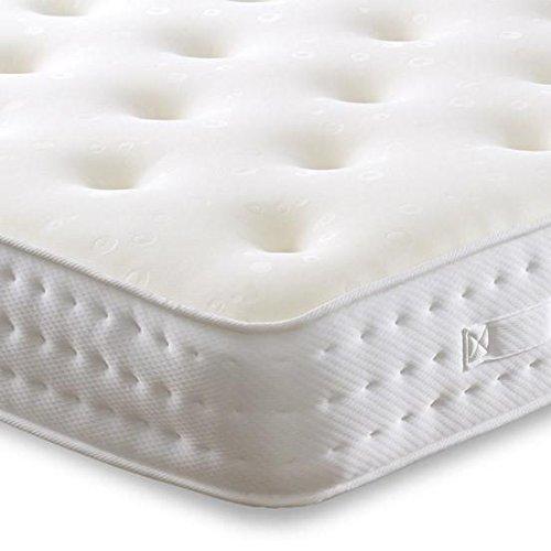 Cheap Beds Direct Calypso Double Face 1500 Poche en Mousse à mémoire Matelas Medium, Small Double 4'0