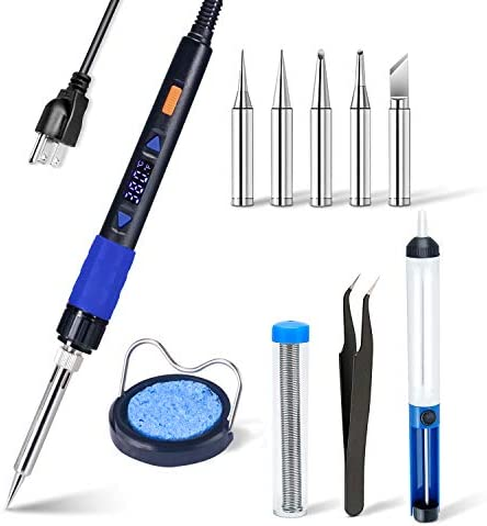Electronics Soldering Iron Kit 110V 65W Lcd Digital Portable Soldering Gun 194 896 90 480 with product image