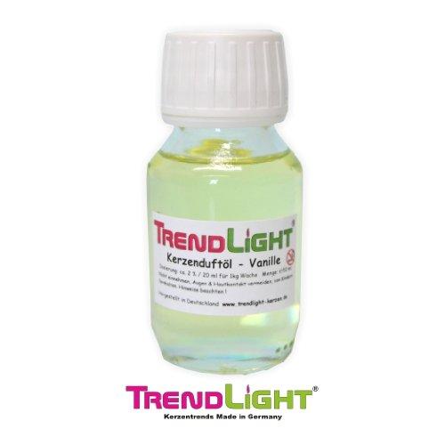 TrendLight Kerzen Duftöl Vanille 50 ml hochkonzentriert zum herstellen von Duftkerzen