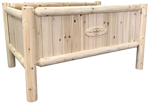 Boldly Growing Wooden Raised Planter Box with Legs...
