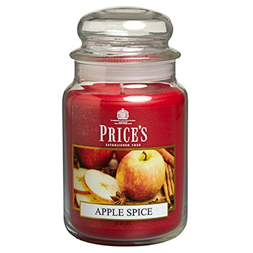 Prijskaarsen Apple Spice Geurende kaars in grote glazen pot met glazen deksel