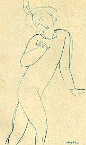 Dancer Nijinsky Poster Print by Amedeo Modigliani (12 x 18)