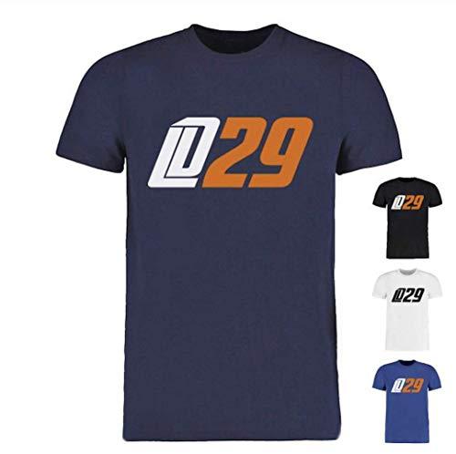 Scallywag® Eishockey T-Shirt Leon Draisaitl LD29 weiß, blau & Navyblau I Größen XS - 3XL I A BRAYCE® Collaboration (offizielle LD29 Kollektion vom NHL Edmonton Oilers Star) (L, Navyblau)